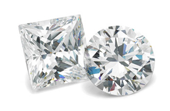 Round-cut, Lab-Created Diamond