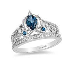 enchanted-disney-cinderella-oval-london-blue-topaz-and-110-ct-tw-diamond-carriage-ring-in-sterling-silver--size-7