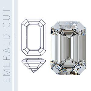 Diagram of the emerald-cut diamond