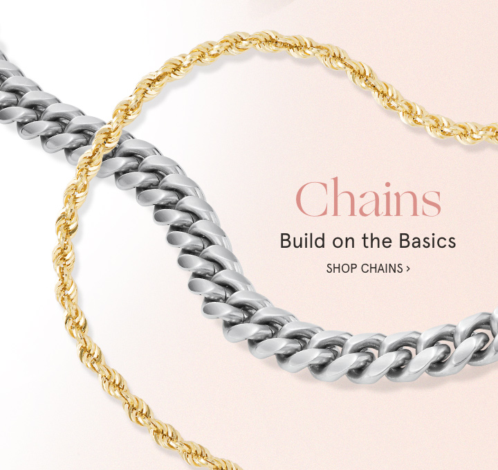 Chain Necklaces Shop Gold Sterling Silver Steel Chains At Zales