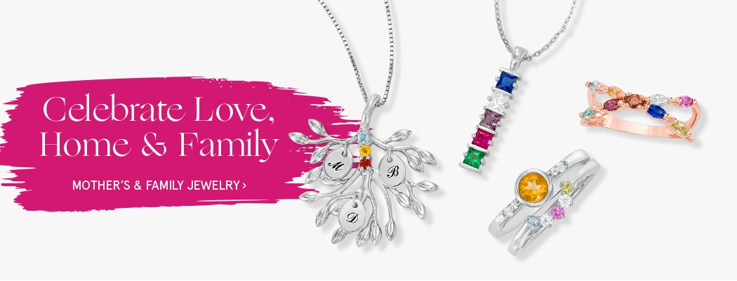 Shop Mother's & Family Jewelry >