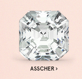 Image of an asscher diamond cut on a pink background.