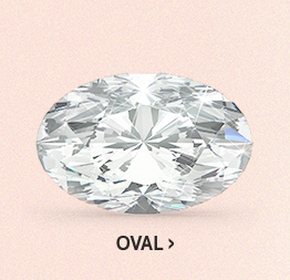 Image of an oval diamond cut on a pink background.