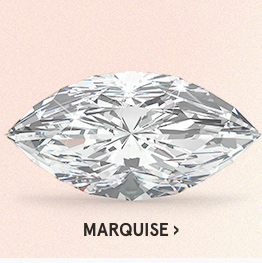 Image of a marquise diamond cut on a pink background.