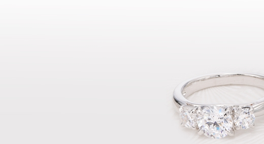 for now for then for always shop three stone - Create Your Own Wedding Ring