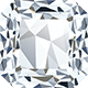 An Asscher shaped diamond