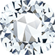 A cushion shaped diamond