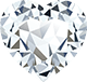 A hart shaped diamond