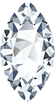 A marquise shaped diamond