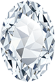 An oval shaped diamond