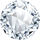A round shaped diamond