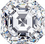 An Asscher-shaped diamond