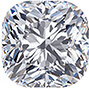 A cushion-shaped diamond