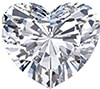A heart-shaped diamond