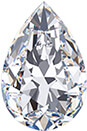 A pear-shaped diamond