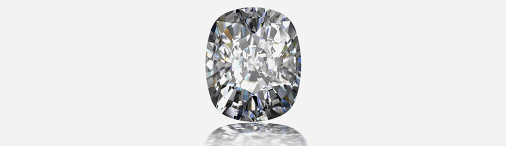 A responsibly-sourced diamond on a gray background