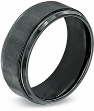 A titanium wedding band