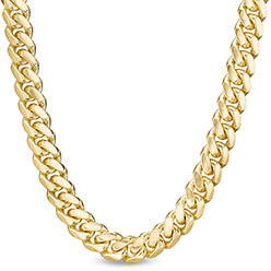 A yellow gold Franco snake chain necklace