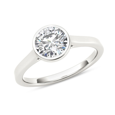 A Partial Bezel Leaves The Sides Of Diamond Or Gemstone Open Setting Is Perfect For Those Who Want Ring That Won T Snag Catch On