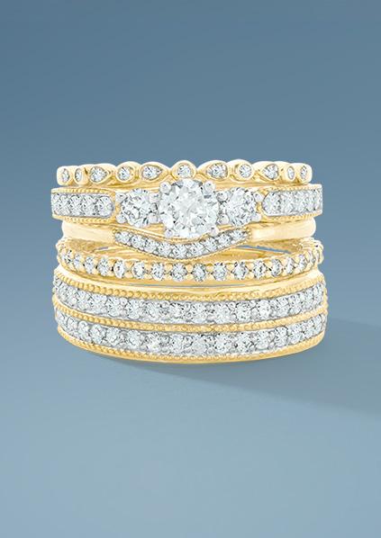 Engagement & Wedding | Stacking Bridal