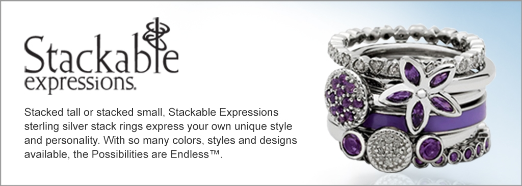 99b85e50a Stackable Expressions - stacked tall or stacked small, Stackable  Expressions sterling silver stack rings express